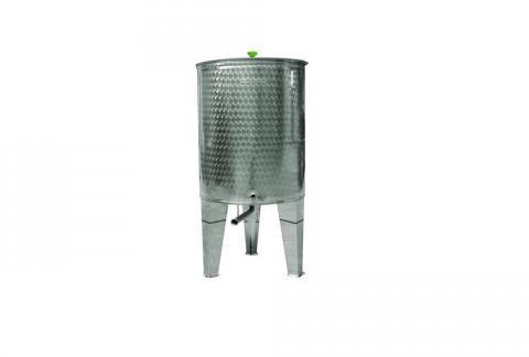 contenitore enologico fondo conico inox fusto vino